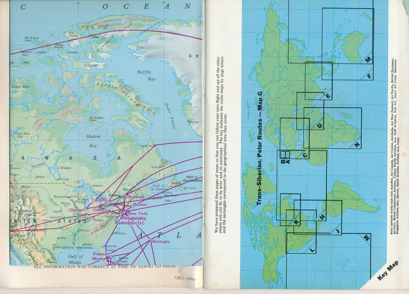 B.O.A.C. Route Map and Flight Information 1971 - CAPT ...